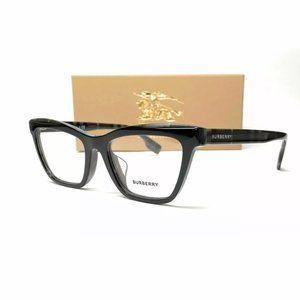 Burberry Men's Black Rectangle Eyeglasses!